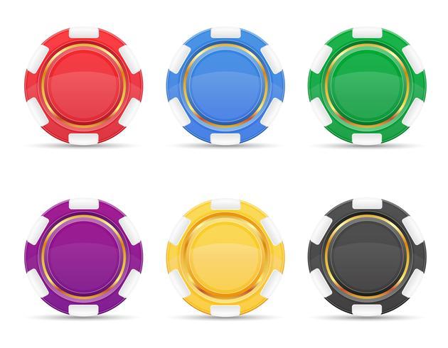 illustrazione colorata di vettore dei chip del casinò