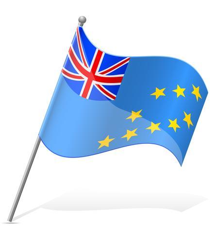 Bandera de Tuvaluan ilustración vectorial