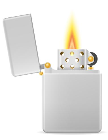 illustrazione vettoriale di benzina accendino di metallo