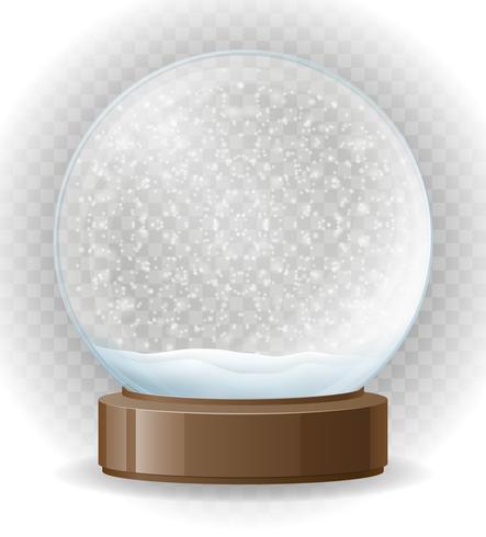 Schneekugel transparente Vektor-Illustration vektor