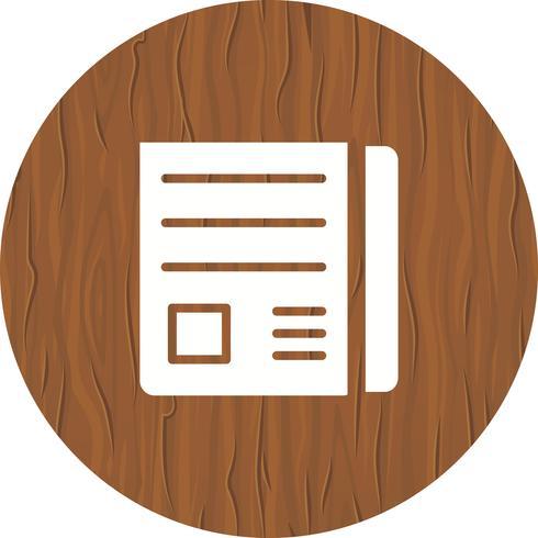 News Paper Icon Design