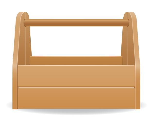 houten gereedschapskist vectorillustratie