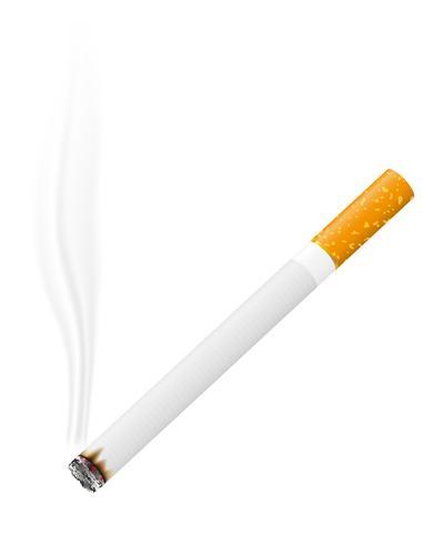 illustration vectorielle de cigarette brûlante