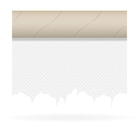 piece toilet paper vector illustration