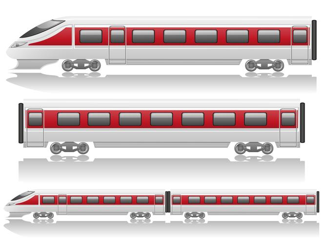 speed train locomotive and wagon vector illustration