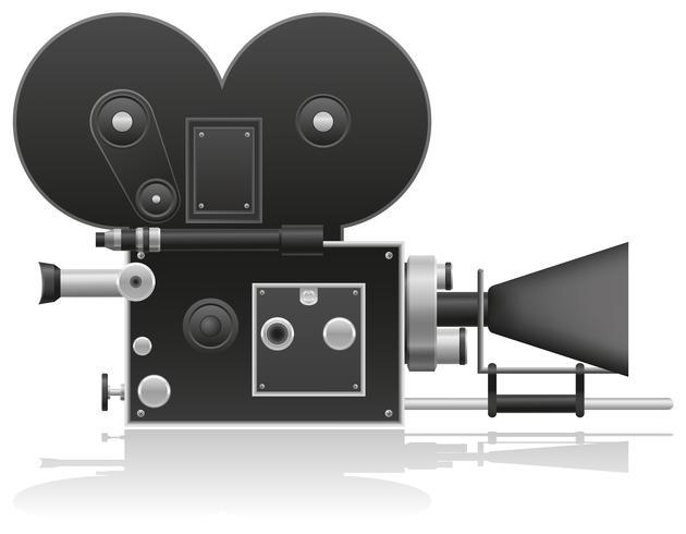 vieja ilustración de vector de cámara de película