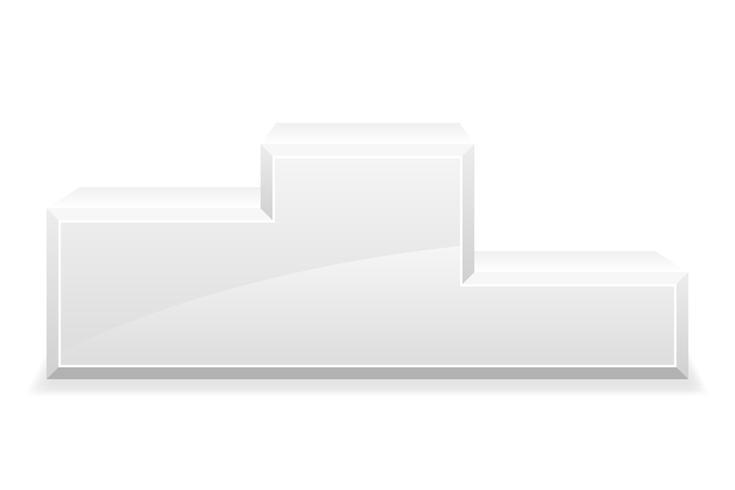Sport-Siegerpodest-Podestvorrat-Vektorillustration vektor
