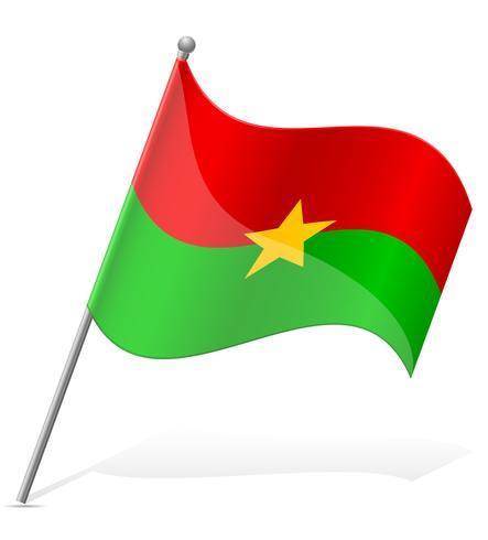 Bandera de Burkina Faso ilustración vectorial vector
