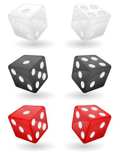 Ilustración de vector de dados de casino de color