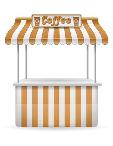 illustration vectorielle de street food décrochage café vecteur