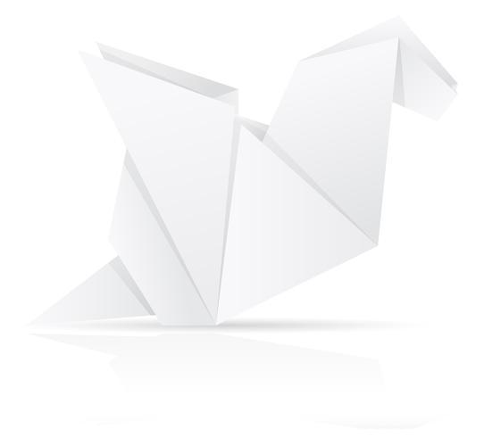 Ilustración de vector de origami papel dragón