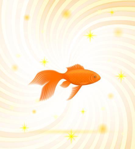 ilustração vetorial peixe dourado