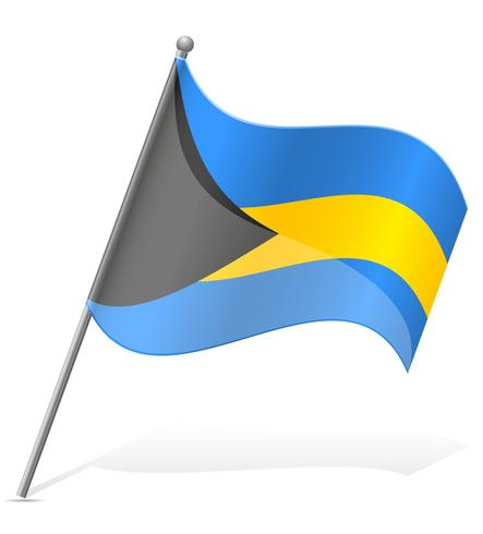 vlag van Bahama's vectorillustratie
