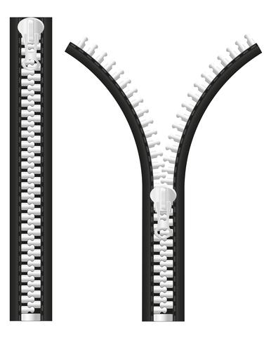 ilustración vectorial de cremallera vector