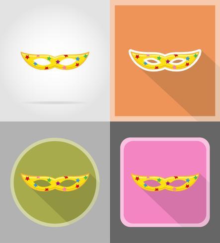 Máscara para la celebración de iconos planos vector illustration