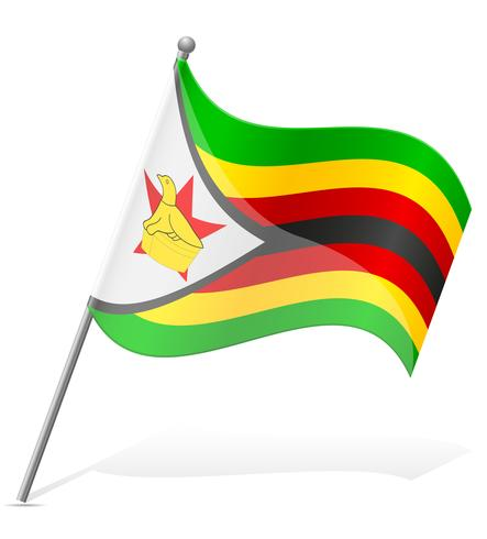 Flagga av Zimbabwe vektor illustration