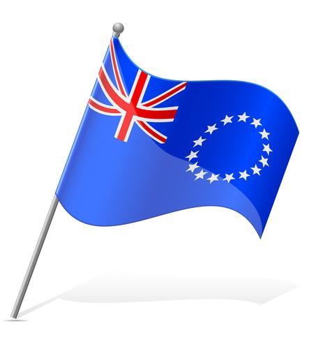 vlag van de Cookeilanden vectorillustratie