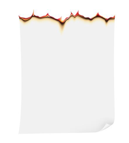 illustrazione vettoriale di carta brucia