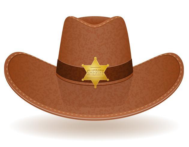 cowboy hat sheriff vector illustration