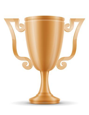 Copa ganador bronce stock vector ilustración