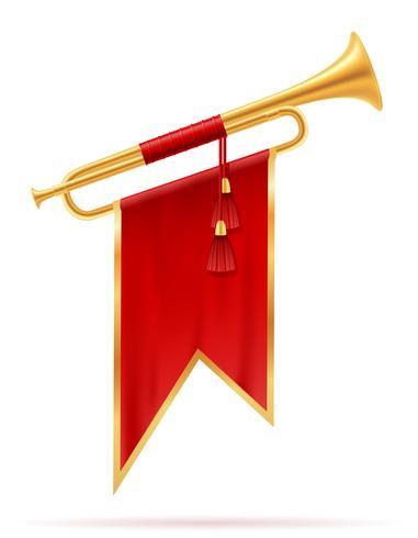 illustration vectorielle roi royal corne d'or