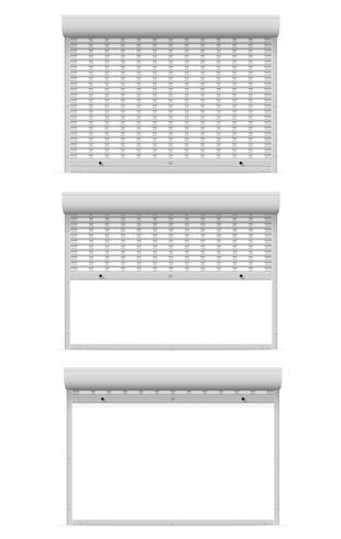 Persianas metálicas perforadas persianas ilustración vectorial vector
