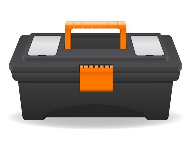illustrazione di vettore di cassetta degli attrezzi di plastica