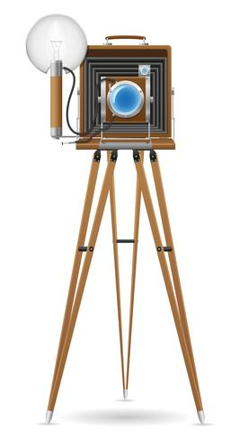 gammal kamera foto vektor illustration
