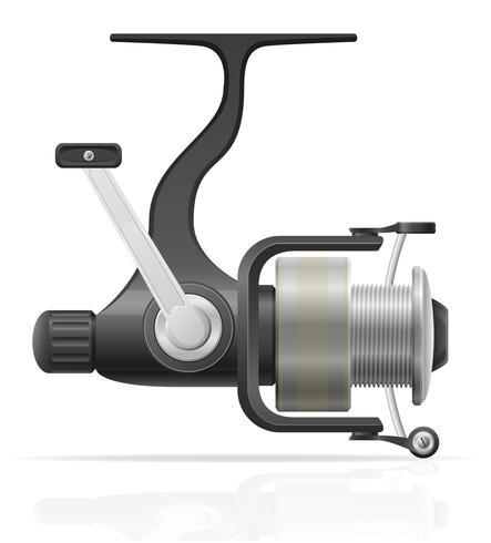 Carrete giratorio para la pesca ilustración vectorial vector