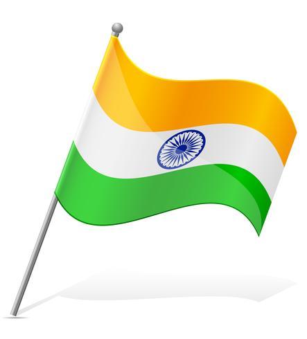 Bandera de la ilustración vectorial de la India vector