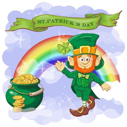 Vektor glückliche St Patrick Tagesgrußkarte