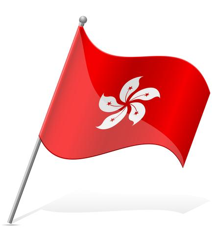 Bandera de ilustración vectorial de hong kong vector