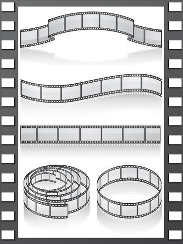 Set Filmstreifen Icons vektor