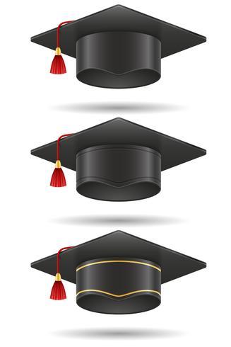 Ilustración de vector de graduación académica birrete tapa cuadrada