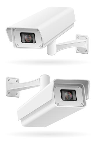 surveillance cameras vector illustration