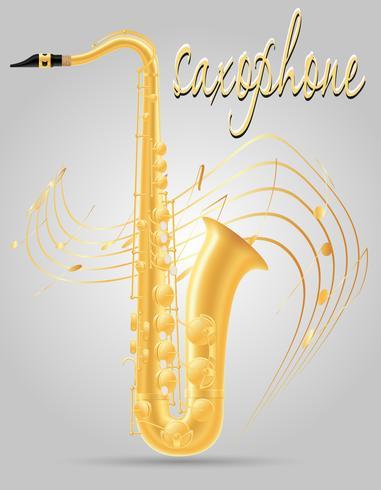 saxofoon wind muziekinstrumenten voorraad vectorillustratie