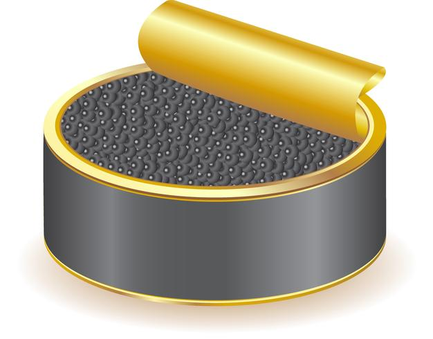black caviar vector
