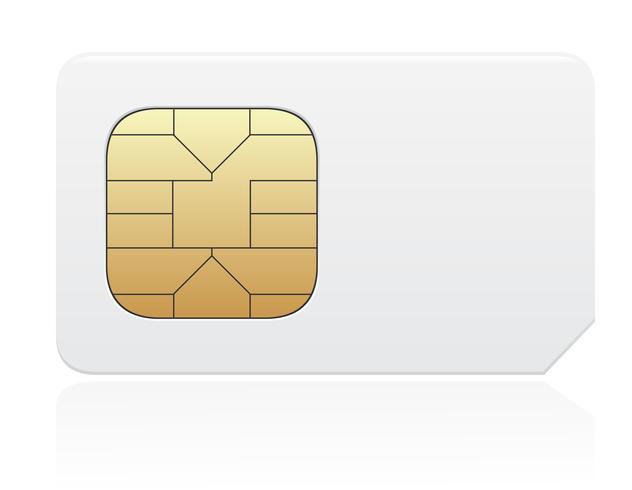 SIM-kaart vectorillustratie