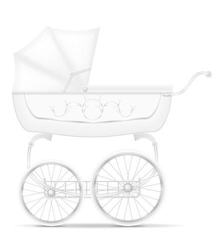retro baby carriage stock vector illustration