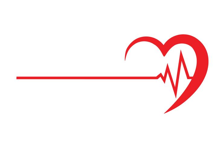 logo for a cardio clinic vector illustration