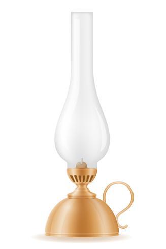 lâmpada de querosene antiga ilustração em vetor estoque vintage ícone retrô