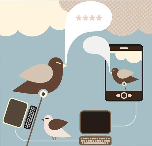 Sociala medier - vektor illustration