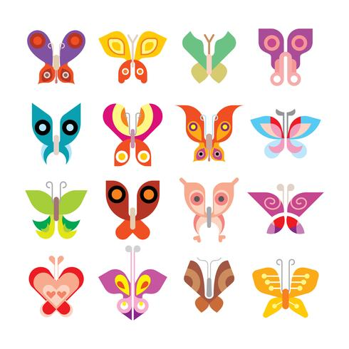 Butterfly ikonuppsättning