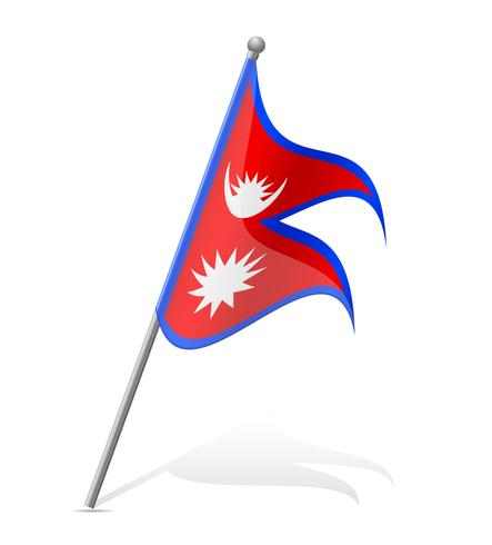 Bandera de ilustración vectorial de nepal vector