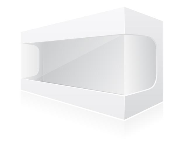 ilustração em vetor caixa embalagem transparente