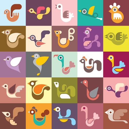 Gli uccelli vector wallpaper senza soluzione di continuità