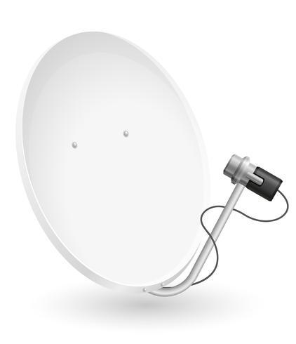 satellite dish vector illustration