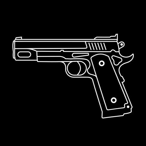 Pistola, -, vetorial, ícone