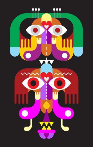 Totem vector design