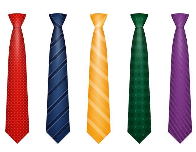 stel pictogrammen kleuren gelijkspel voor mannen een pak vectorillustratie